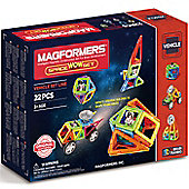 Magformers 22 Piece Space Wow Set Construction Toy