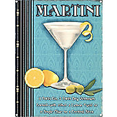 Martini Time Tin Sign
