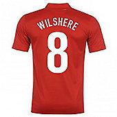 2013-14 England Away Shirt (Wilshere 8) - Red