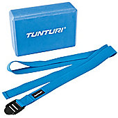 Tunturi Yoga Block & Yoga Strap Set