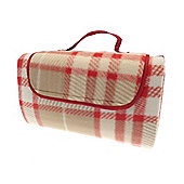Country Club Picnic & Beach Blanket 130 x 150cm, Red Tartan