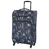IT Luggage Megalite 4-Wheel Suitcase, Black/Blue Large