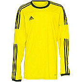 Adidas Toque 11 Climalite Long Sleeved Football Shirt Yellow/Navy 3XL