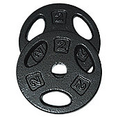 Golds Gym 2kg Cast Iron Weight Plate