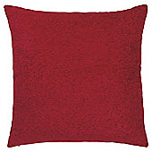 Plain Chenille Cushion, Flame