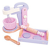 Bigjigs Toys BJ396 Wooden Play Food Candy Floss Food Mixer Set