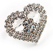 Clear Crystal Heart Ring