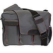 Diaper Dude Flap Messenger II Changing Bag Grey