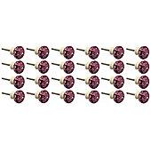 Resin Cupboard Drawer Knobs - Purple - Pack Of 24
