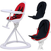 ickle bubba Orb+ Highchair (White/Red)