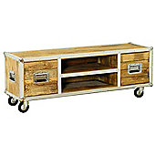 Baumhaus IRC09B Roadie Chic Oak TV Stand
