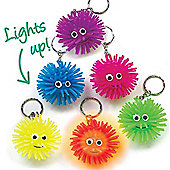 Party Bag Light-Up Squeezy Hedgehog Keyrings (Pack of 6)