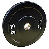 Body Power 10Kg Solid Rubber Olympic Disc Weight Plate (x1)