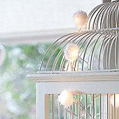 40 Warm White LED Fluffy Pom Pom Indoor Fairy Lights