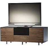 Alphason Studio Cubic AV Cabinet in Black and Walnut