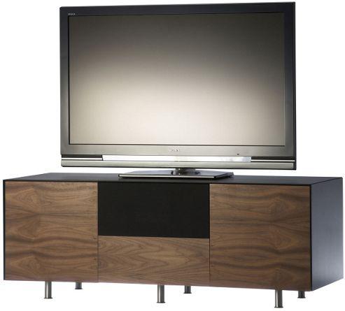 Alphason Studio Cubic AV Cabinet in Black and Walnut