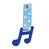 Teetherz Note Royal Blue (blue spot ribbon)