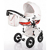 DaVos Moto Style Pure Leather 2in1 Pram and Pushchair Red