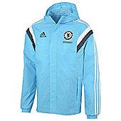 2014-15 Chelsea Adidas Allweather Jacket (Blue) - Blue