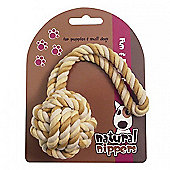 Rosewood Natural Nippers Puppy Tuff Rope Ball