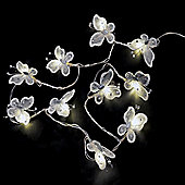 Pack of Two Battery Operated Butterfly LED String Lights in White