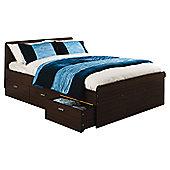 "Elements Oakdale Forest Bed Frame - Double (4' 6"") - Walnut"