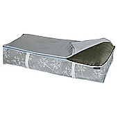 DomoPak Underbed Storage Bag, White Leaf