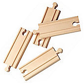 "4"" Straight Track X 4 For Wooden Railway Train Set 50902 - Brio Compatible"