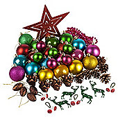 Christmas Tree Decorations, Multi, 50 pack