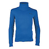 Meribel Kids Cotton Roll Neck Base Layer - Blue