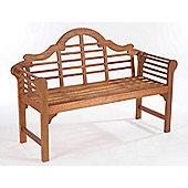 Lutyens Style Garden Bench, Acacia, 2 seater
