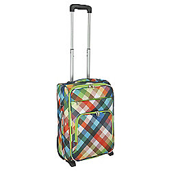 Tesco 2-Wheel Small Diamond Print Suitcase