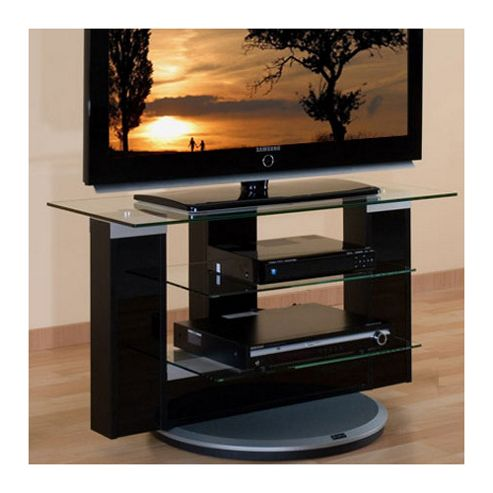 Triskom Wooden TV Stand for LCD / Plasmas with Tempered Glass Shelves