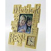 Imperial Clocks Mother Photo Frame Clock - Gold