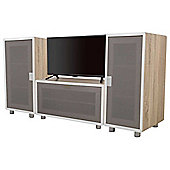 AVF Connect Whitewashed Oak Modular TV Stand  - 3 Units