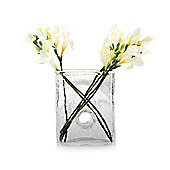 Home Essence Bliss Square Vase - Clear - Medium