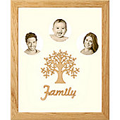Large Family Photo Tree of Life Picture Frame Solid Oak 50x40cm (3)
