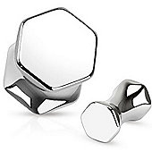 Urban Male Pack of Five Surgical Stainless Steel Hexagonal Ear Stretching Flesh Plugs