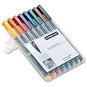 Staedtler 314 Lumocolor Pen Permanent Broad 1.0-2.5mm Assorted Ref 314WP8 [Wallet 8]