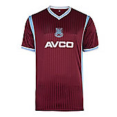 West Ham United 1988 Home Shirt Claret & Sky Blue M