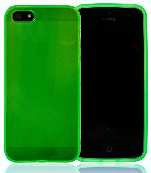 U-bop gSHELL Tough All-Body Gel Case Smoke Green - For Apple iPhone 5