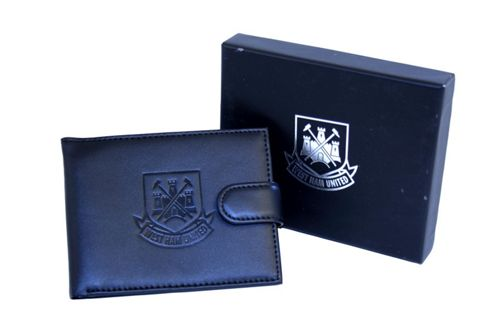 West Ham Leather Wallet with Crest.