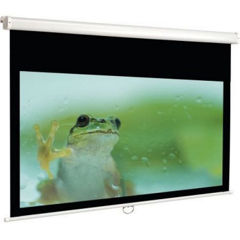 Euroscreen Connect Electric Square Format Projection Screen, 200cm x 200cm - White