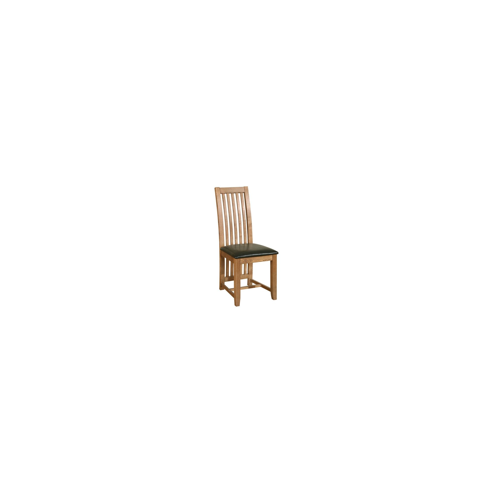 Kelburn Furniture Toulouse Dining Chair in Medium Oak Stain and Satin Lacquer