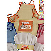 Junior Chef Apron and Hat Set Yellow Age 2-5