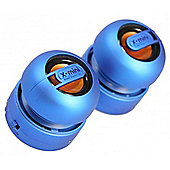 Max Duo Portable Rechargeable Capsule Speakers - Blue