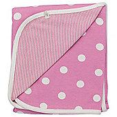 Pigeon Organics Spotty Reversible Blanket Pink 70x70cm