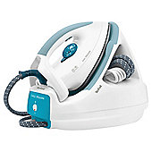 Tefal GV5225 Ceramic Plate Steam Generator Iron-White & Blue