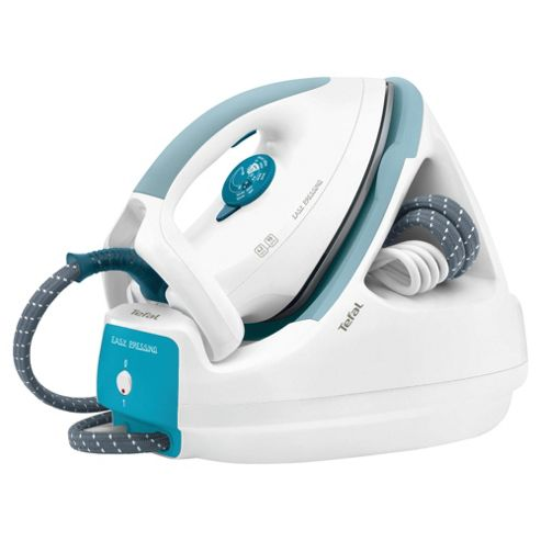 Tefal GV5225 Ceramic Plate Steam Generator Iron, White and Blue