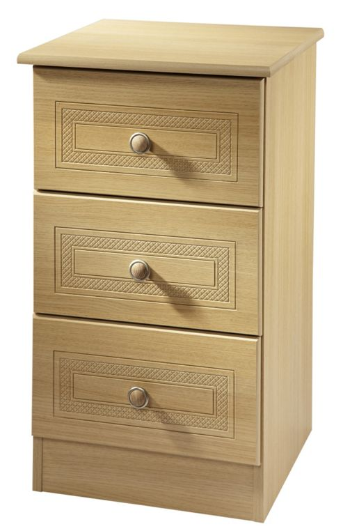 Welcome Furniture Corrib 2 Drawer Chest with Locker - Light Oak